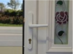 White Lever Door Handle
